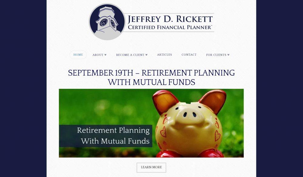 Jeffrey D. Rickett Website Example