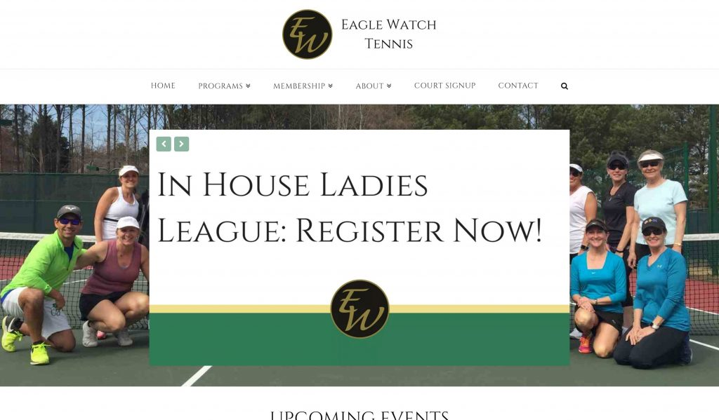 Eagle Watch Tennis Website Example