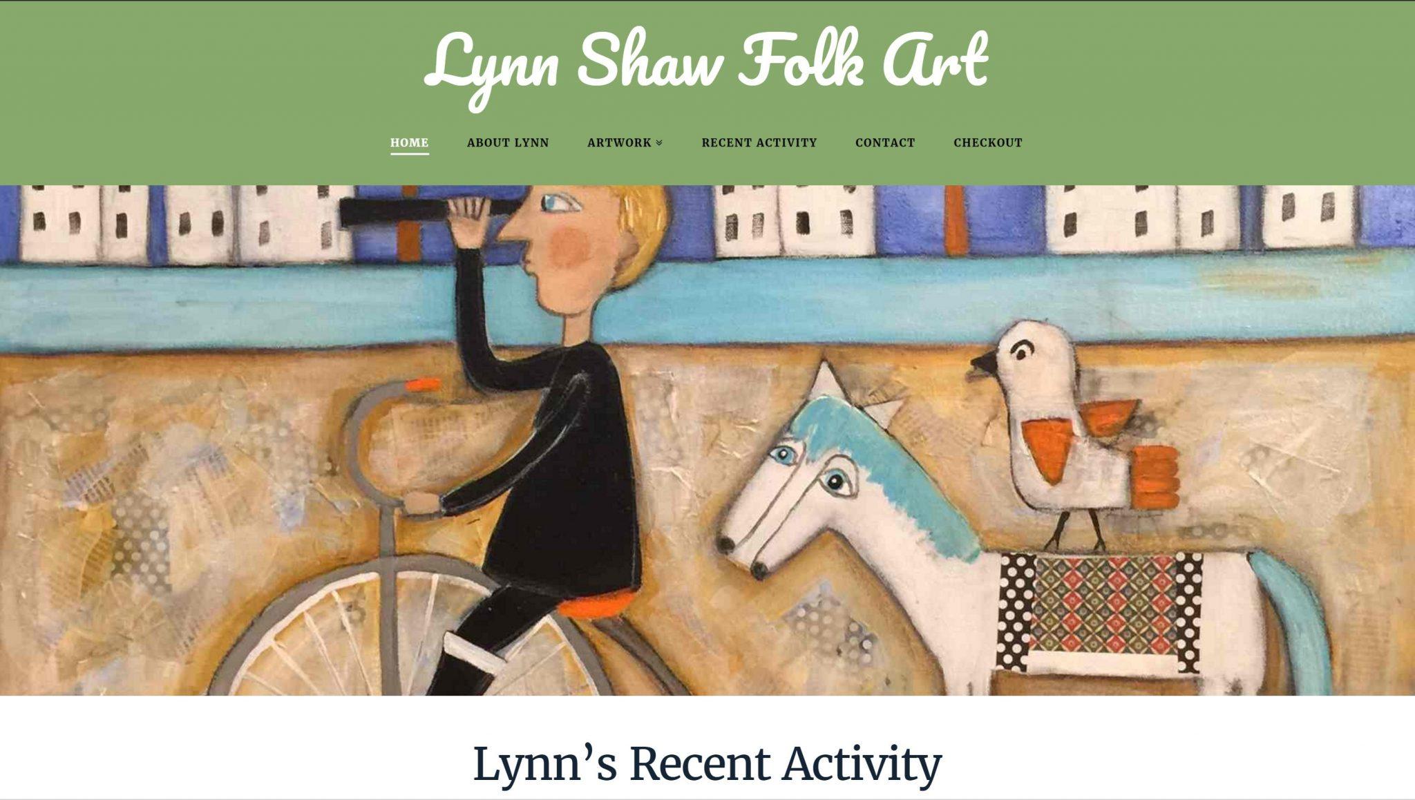Lynn Shaw Folk Art Website